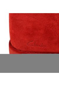 Czerwone trzewiki Clarks eleganckie, z cholewką