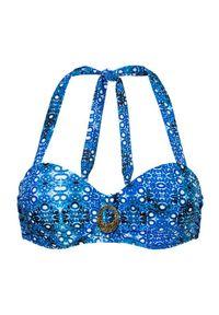 Cellbes Góra od bikini niebieski we wzory female niebieski/ze wzorem 75E. Kolor: niebieski. Wzór: kolorowy