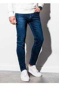 Ombre Clothing - Spodnie męskie jeansowe P942 - niebieskie - XXL. Kolor: niebieski. Materiał: jeans. Styl: klasyczny