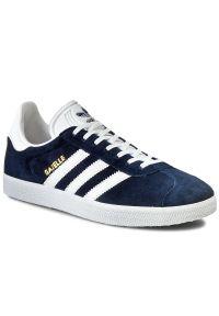 Niebieskie buty sportowe Adidas na lato, w paski