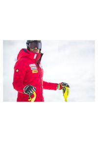 Kurtka męska narciarska Descente i4.R Swiss Replica DWMQGK93. Materiał: bawełna, puch, tkanina, materiał. Technologia: Dermizax. Wzór: aplikacja. Sezon: zima. Sport: narciarstwo