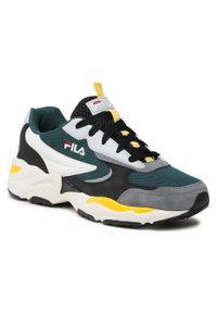 Fila - Sneakersy FILA - Mastermind 2.0 Cb 1011060.52E Storm/Black. Kolor: zielony. Materiał: zamsz, materiał, skóra ekologiczna, skóra