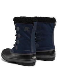 Niebieskie buty zimowe sorel z cholewką, casualowe, na co dzień