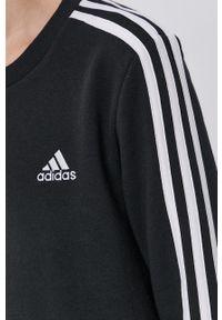 Adidas - adidas - Bluza. Okazja: na co dzień. Kolor: czarny. Materiał: bawełna, dzianina, poliester. Długość rękawa: długi rękaw. Długość: długie. Styl: casual