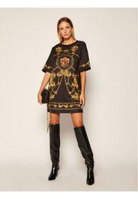 Czarna sukienka dzianinowa Versace Jeans Couture