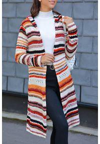 Wielokolorowy sweter IVET w paski, na jesień