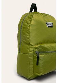 Vans - Plecak. Kolor: oliwkowy. Materiał: materiał, nylon, poliester. Wzór: aplikacja, paski #3