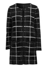 Czarny sweter Cellbes z długim rękawem, w kratkę, długi