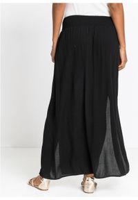 Długa spódnica z rozporkami bonprix czarny. Kolor: czarny. Długość: długie #4
