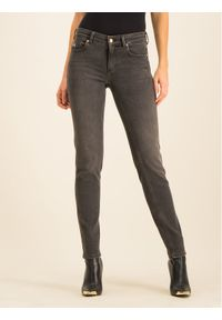 Szare jeansy slim Versace Jeans Couture