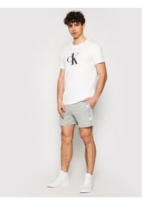 Calvin Klein Swimwear Szorty sportowe Terry KM0KM00611 Szary Regular Fit. Kolor: szary