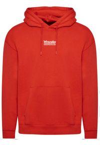 Wrangler Bluza Hoodie W6E1HAXA4 Czerwony Regular Fit. Kolor: czerwony