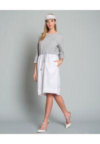 RUSLAN BAGINSKIY - Daszek z bawełny. Kolor: biały. Materiał: bawełna. Wzór: aplikacja