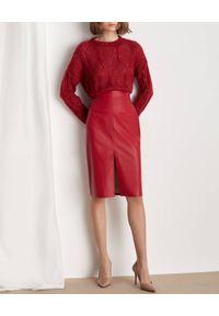 Marella - MARELLA - Czerwona ołówkowa spódnica Abisso. Stan: podwyższony. Kolor: czerwony. Materiał: wiskoza