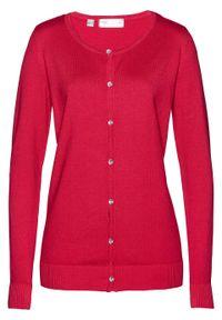 Czerwony sweter bonprix