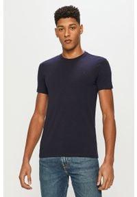 Niebieski t-shirt Trussardi Jeans klasyczny