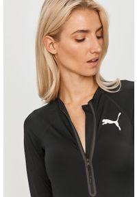 Czarny strój kąpielowy Puma z nadrukiem