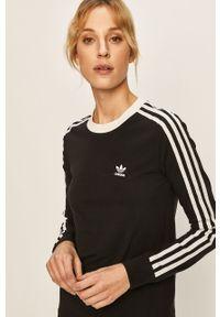 Czarna bluzka z długim rękawem adidas Originals na co dzień, casualowa