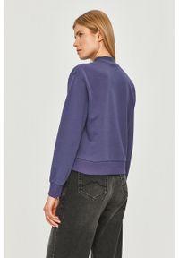 Niebieska bluza Fila na co dzień, z aplikacjami, bez kaptura, casualowa