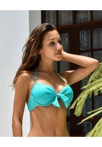 CAHA CAPO - Turkusowy top od bikini Maria. Kolor: niebieski. Materiał: materiał