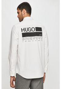 Biała koszula Hugo z klasycznym kołnierzykiem, z długim rękawem, długa #7