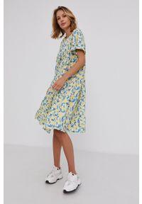 Answear Lab - Sukienka bawełniana. Kolor: żółty. Materiał: bawełna. Styl: wakacyjny