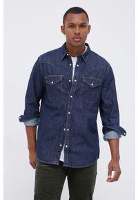 Lee - Koszula jeansowa. Typ kołnierza: kołnierzyk klasyczny. Kolor: niebieski. Materiał: jeans. Styl: klasyczny