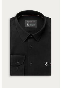Czarna koszula Tommy Hilfiger Tailored długa, na co dzień