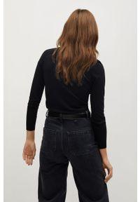 Czarny sweter rozpinany mango z długim rękawem, długi, casualowy, na co dzień