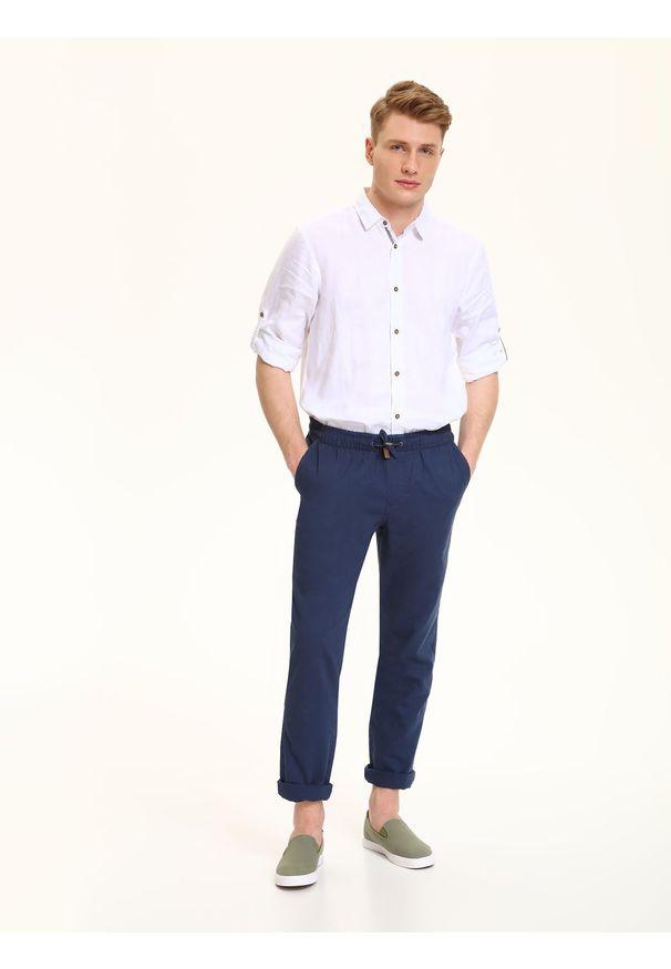 Niebieskie spodnie TOP SECRET na lato, długie