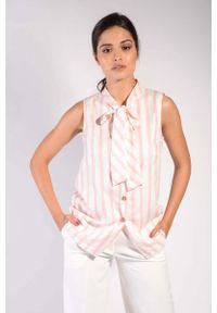 Różowa koszula Nommo w paski