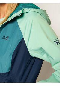Zielona kurtka przeciwdeszczowa Jack Wolfskin