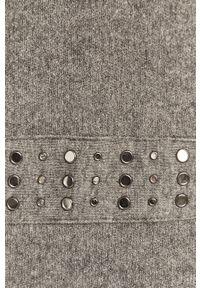 Szary sweter rozpinany Morgan długi, casualowy