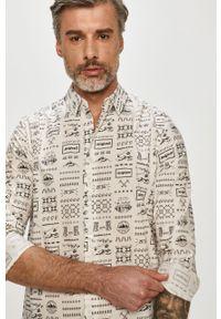 Biała koszula Desigual casualowa, z klasycznym kołnierzykiem, na co dzień