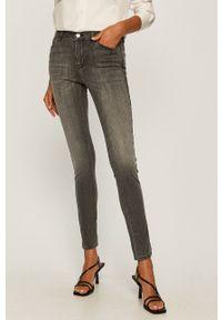 Szare jeansy Karl Lagerfeld z podwyższonym stanem
