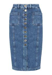 Niebieska spódnica jeansowa Pinko
