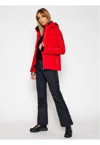Czerwona kurtka zimowa Descente