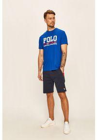 Niebieski t-shirt Polo Ralph Lauren polo, z nadrukiem