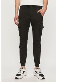 Czarne spodnie PRODUKT by Jack & Jones gładkie, na co dzień, casualowe