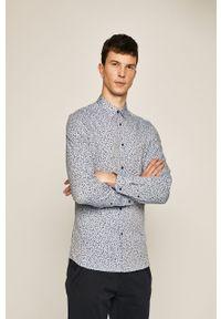 Niebieska koszula medicine elegancka, z klasycznym kołnierzykiem, długa
