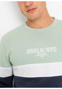 Zielona bluza bonprix z nadrukiem