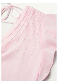 mango - Mango Bluzka Pleamar 87038639 Różowy Relaxed Fit. Kolor: różowy