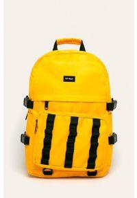 Żółty plecak Spiral z aplikacjami