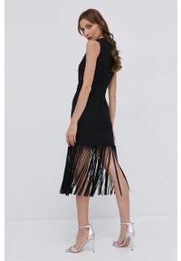 Pinko - Sukienka. Okazja: na co dzień. Kolor: czarny. Materiał: tkanina. Typ sukienki: proste. Styl: casual