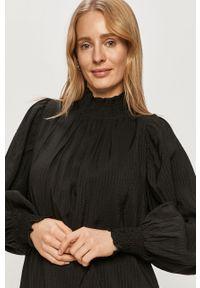 Czarna sukienka Vero Moda na co dzień, mini, z długim rękawem, prosta