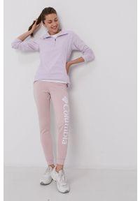 columbia - Columbia - Spodnie. Kolor: różowy. Materiał: dzianina. Wzór: nadruk