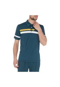 TECNOPro - Koszulka męska do tenisa Tecno Pro Donald 285771. Typ kołnierza: polo. Materiał: materiał, tkanina, syntetyk, włókno, skóra, poliester. Sport: tenis