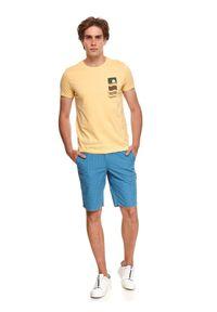 TOP SECRET - T-shirt z nadrukiem. Kolor: żółty. Wzór: nadruk