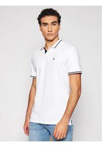 Jack & Jones - Jack&Jones Polo Jersey 12180891 Biały Regular Fit. Typ kołnierza: polo. Kolor: biały. Materiał: jersey