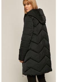 Czarny płaszcz medicine casualowy, z kapturem, na co dzień